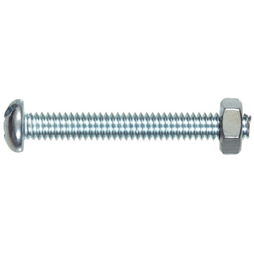 Stove Bolt Round Head Combination Drive with Nut #6-32 x 1/2