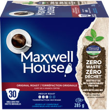 Maxwell House Original Roast 30ct Single Serve Coffee Pods