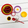 Confetti Mixing Bowl Set, Red, Kiwi & Orchid, 4-piece set slideshow image 4