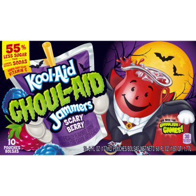 Kool-Aid Ghoul-Aid Scary Blackberry Ready-to-Drink Soft Drink 10 - 6 fl oz Packets