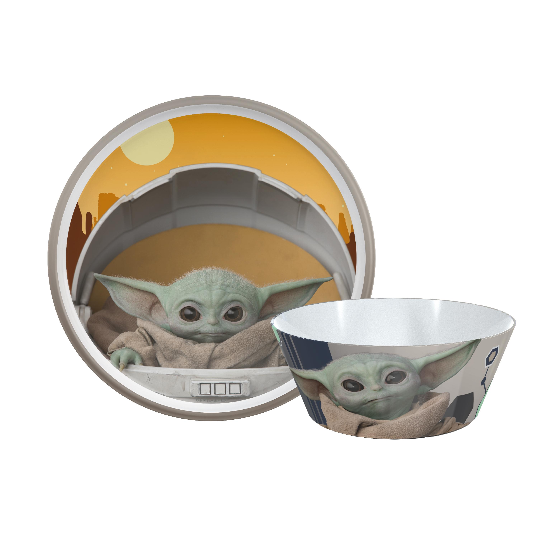 Star Wars: The Mandalorian Kids Dinnerware Set, The Child, 2-piece set slideshow image 2
