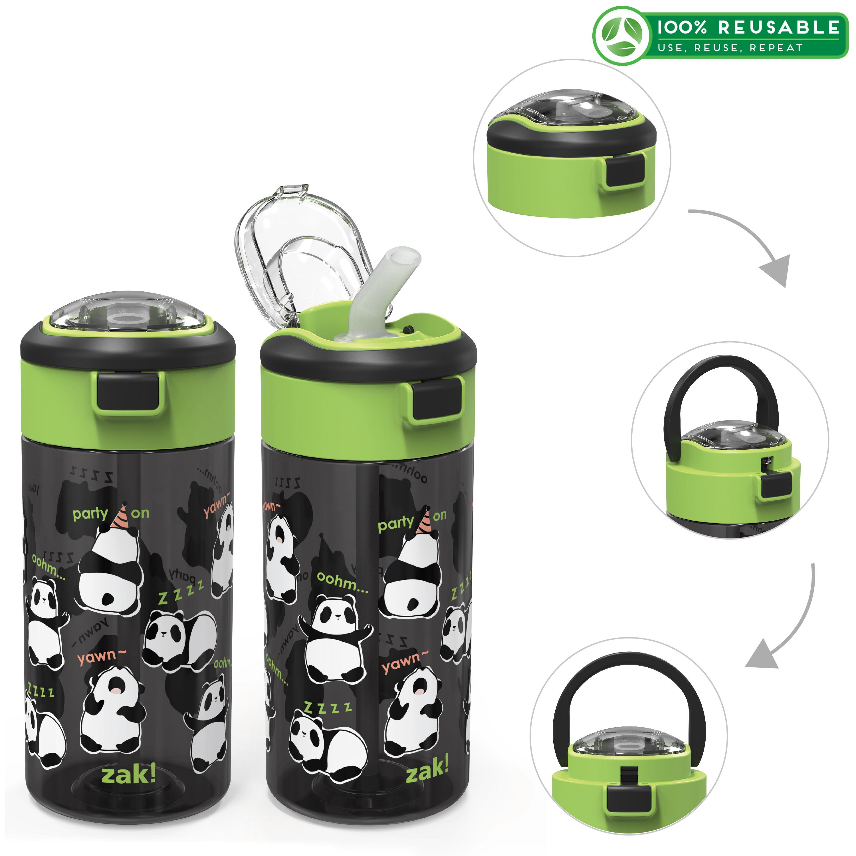 Genesis 18 ounce Water Bottles, Panda, 2-piece set image