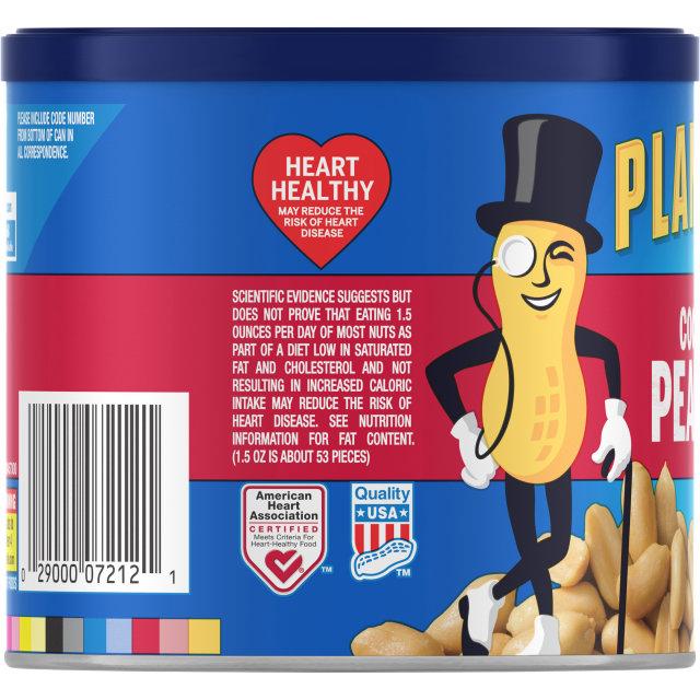 PLANTERS Cocktail Peanuts 12 oz Can