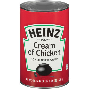 HEINZ Cream of Chicken Soup, 49.2 oz. Can, (Pack of 12) image