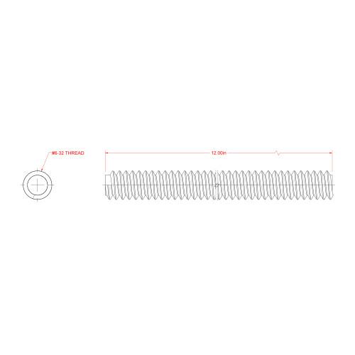 SteelWorks Zinc-Plated Threaded Coarse Rod (13/64