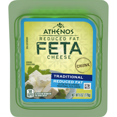 Athenos Chunk Reduced Fat Feta Cheese 6 oz Blister Pack