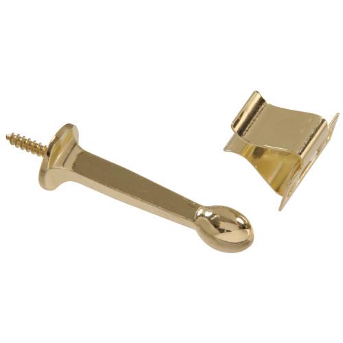 Hardware Essentials Rigid Door Stops with Holder Brass