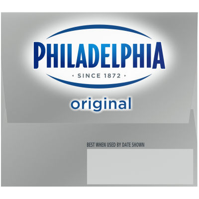 Philadelphia Cream Cheese Brick 16 oz Box (Pack of 2)