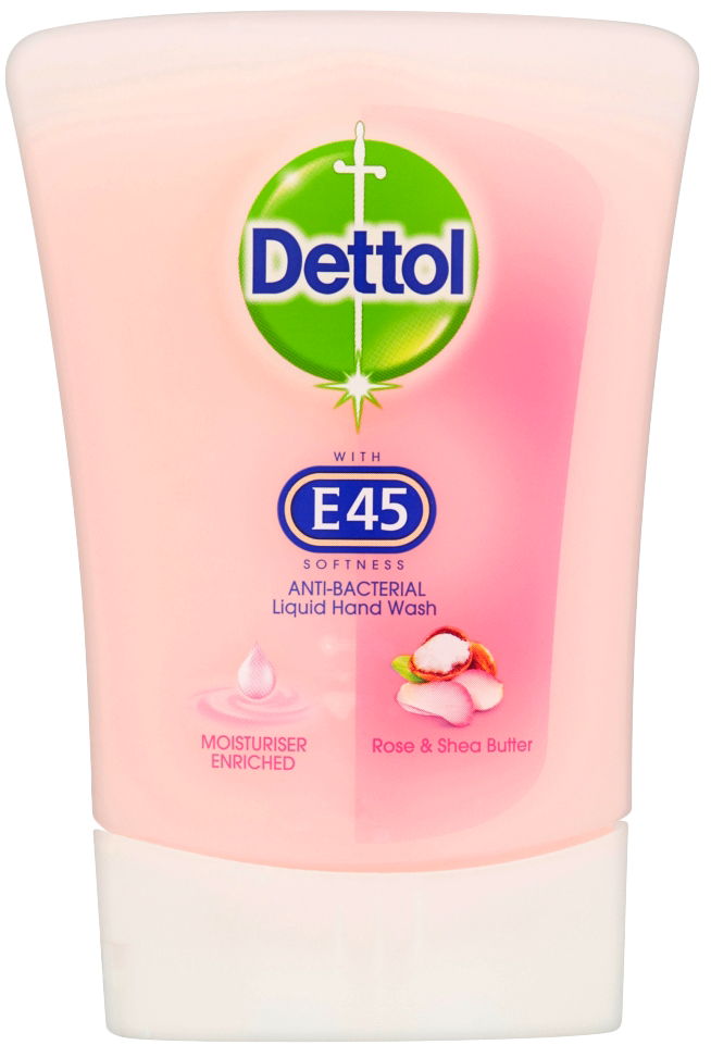 Dettol No Touch Hand Wash with E45 RefillRose & Shea Butter (Lotus)