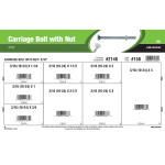 """Carriage Bolts with Nuts Assortment (3/16"""")"""