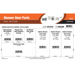 Shower Door Parts Assortment (Bumper, Latch, and Guides)