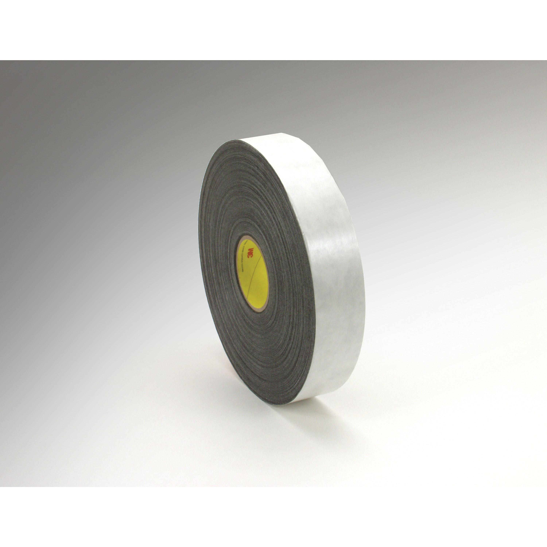 3M™ Double Coated Polyethylene Foam Tape 4462, Black, 1 in x 72 yd, 31 mil, 9 rolls per case