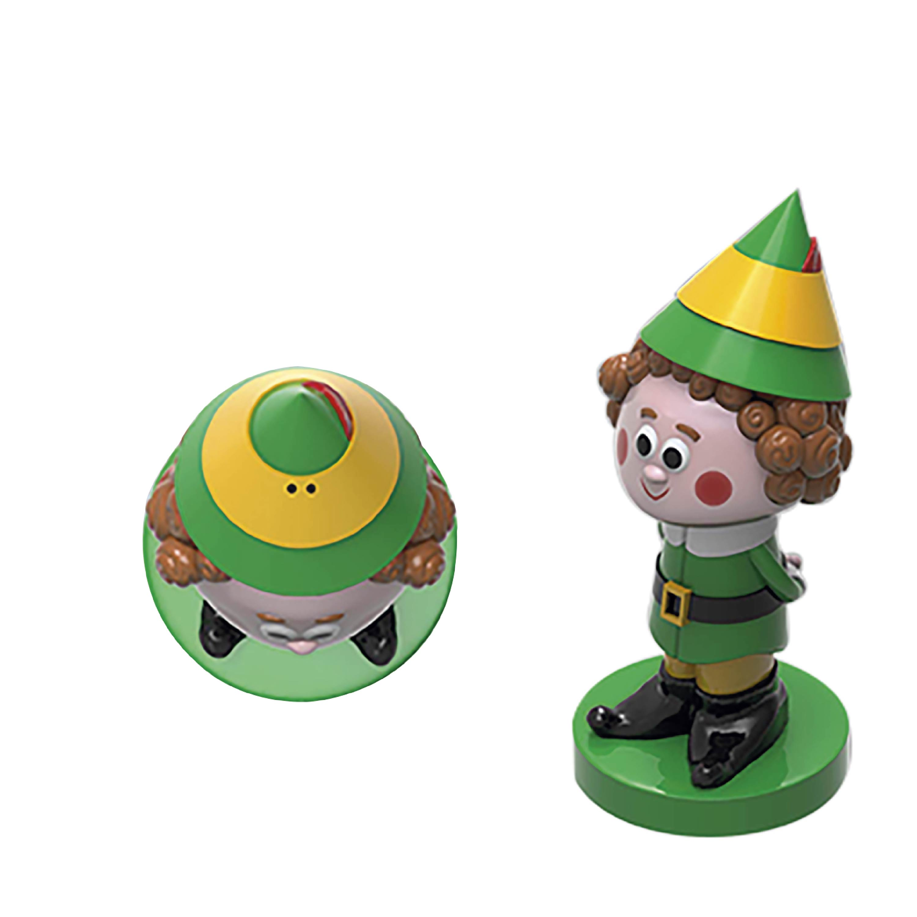 Christmas Collectibles Salt and Pepper Shaker Set, Elf & Snowman, 2-piece set slideshow image 4