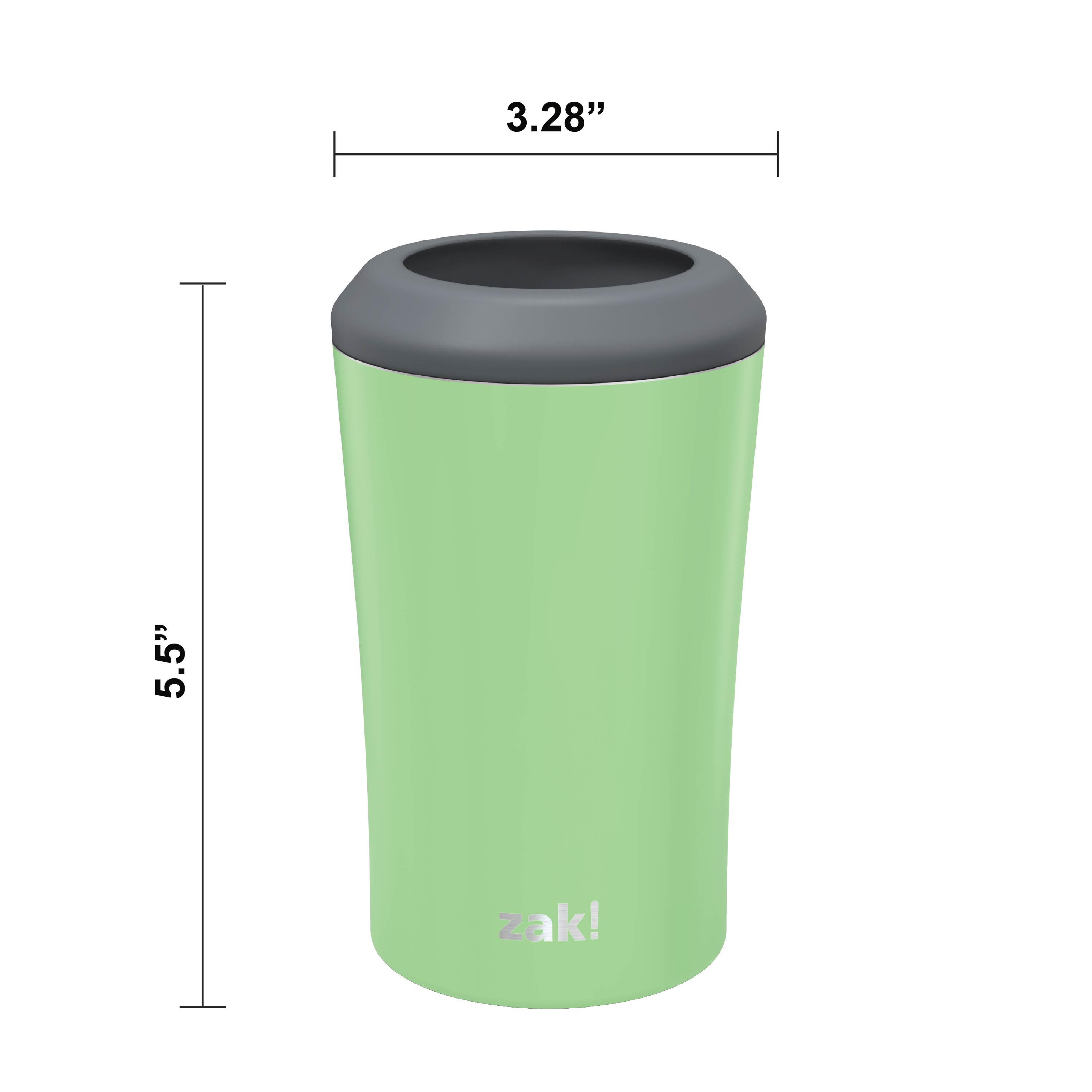 Zak Hydration 12 ounce Double Wall Stainless Steel Can and Bottle Cooler with Vacuum Insulation, Pistachio slideshow image 6
