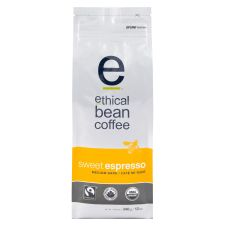 Ethical Bean Sweet Espresso Medium Dark Roast Whole Bean Coffee - Organic - Fairtrade Certified, 340g