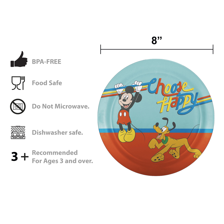 Disney Plate, Bowl, Tumbler and Flatware Set, Rainbow Mickey Mouse, 5-piece set slideshow image 6