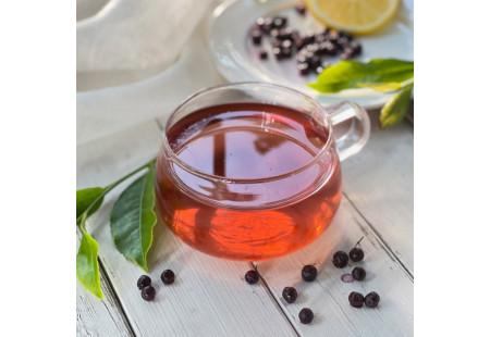 Glass cup of Green Tea with Elderberry Plus Vitamin C