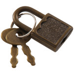 Hardware Essentials Antique Brass Padlock