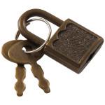 Hardware Essentials Antique Brass Padlock