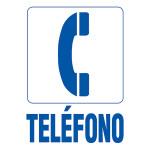 "Spanish Telephone Sign, 5"" x 7"""