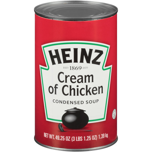 HEINZ Cream of Chicken Soup, 49.2 oz. Can, (Pack of 12)