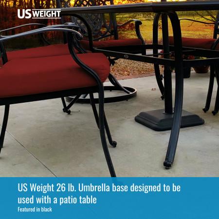26 lb Umbrella Base - Black 2