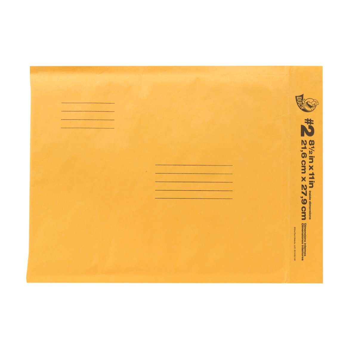 Duck® Brand Kraft Bubble Mailers - Manila, 8.5 in. x 11 in. Image