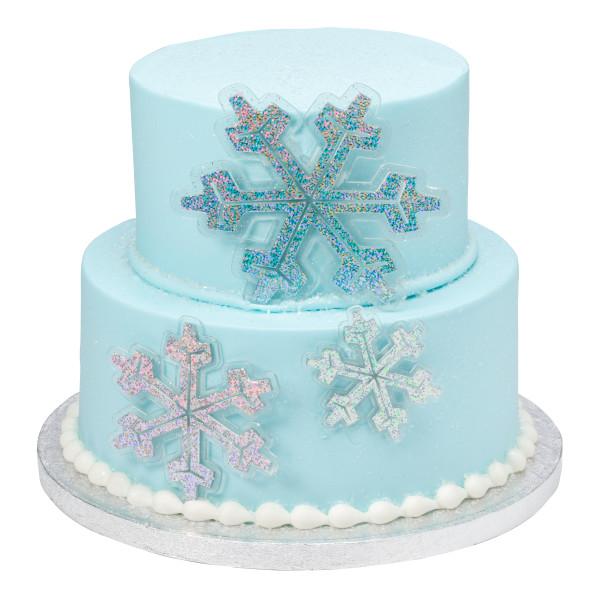 Holographic Snowflake Assortment Layon