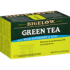 Green Tea with Wild Blueberry Acai - Case of 6 boxes- total of 120 teabags