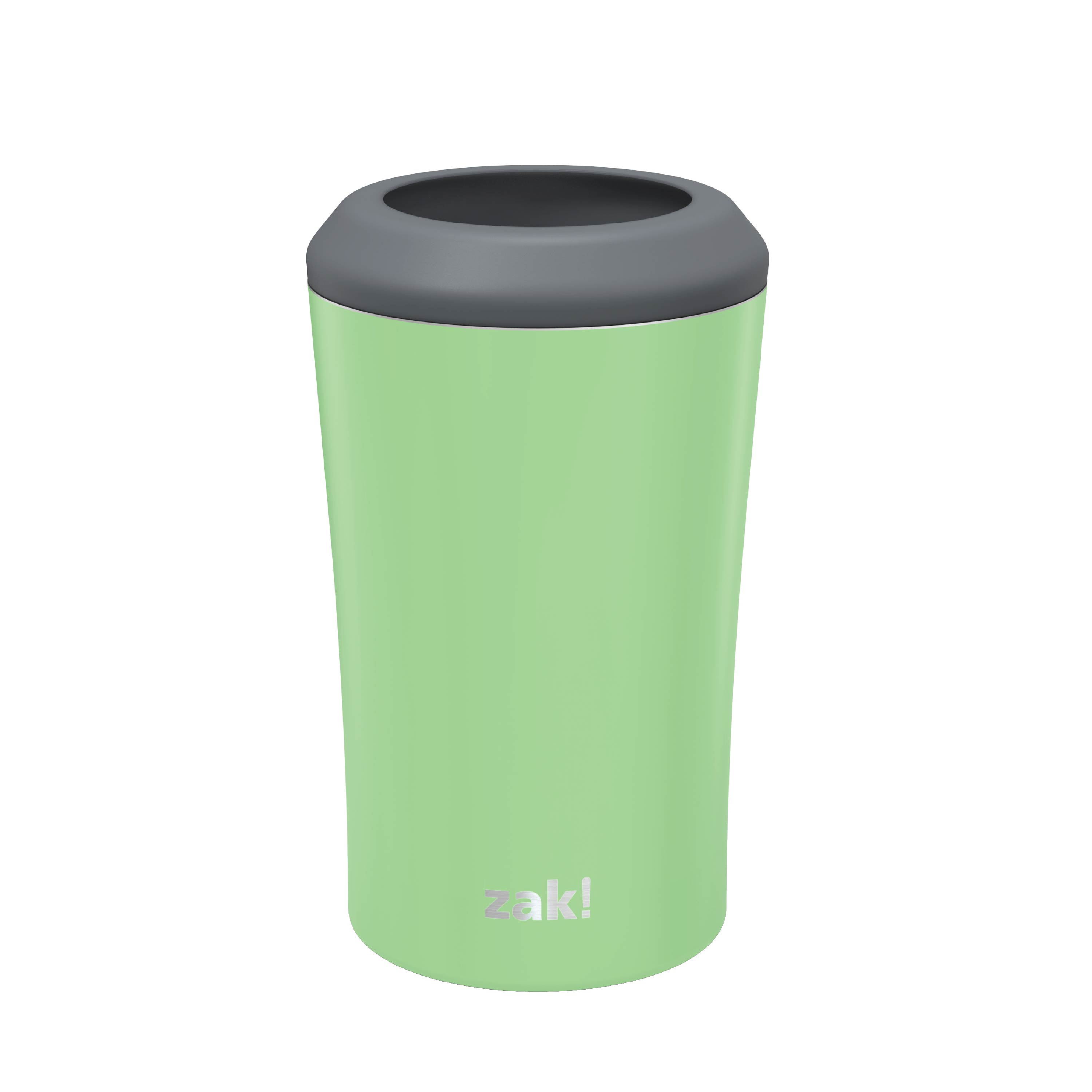 Zak Hydration 12 ounce Double Wall Stainless Steel Can and Bottle Cooler with Vacuum Insulation, Pistachio slideshow image 1