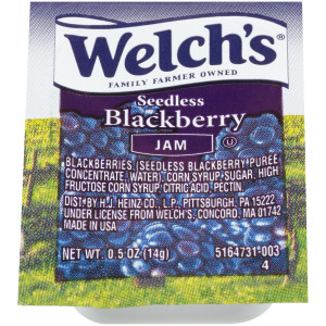 WELCH'S Single Serve Blackberry Jam, 0.5 oz. Cups (Pack of 200) image