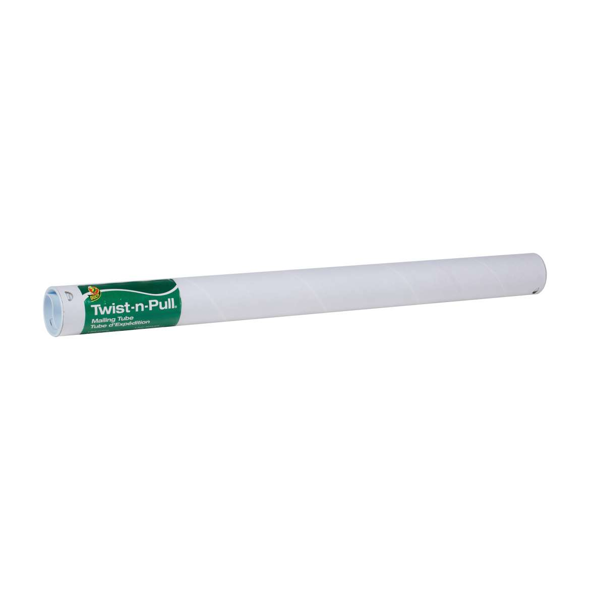 Duck® Brand Twist-n-Pull® Mailing Tube - White, 2 in. x 24 in. Image