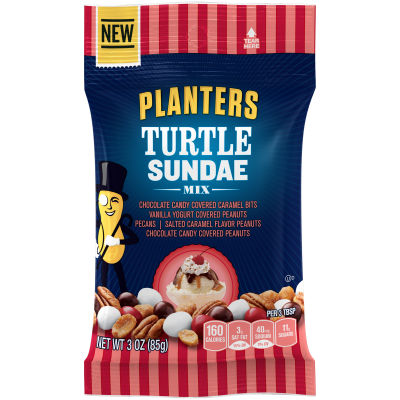 Planters Turtle Sundae Mix 3 oz Bag