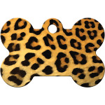 Leopard Print Large Bone Quick-Tag