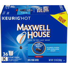 Maxwell House, Original Roast Coffee, K-Cup Pods, 36 Count
