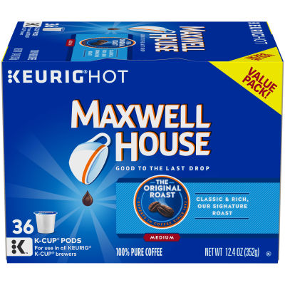 Maxwell House Original Roast K-Cup Pods 12.4 oz Box