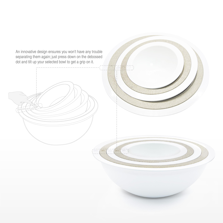 Tilt Mixing Bowl Set, White, 5-piece set slideshow image 6