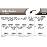 Carbon Brushes Assortment (For B&D, SKIL, Miller Falls, Stanley, Thor, Porter Cable, Beaver, Clarke Power Tools)
