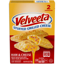 Velveeta Ham and Cheese Stuffed Grilled Cheese Sandwiches 2 count Box