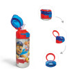 Paw patrol 19.5 ounce Stainless Steel Water Bottle with Straw, Chase, Skye & Rubble slideshow image 1