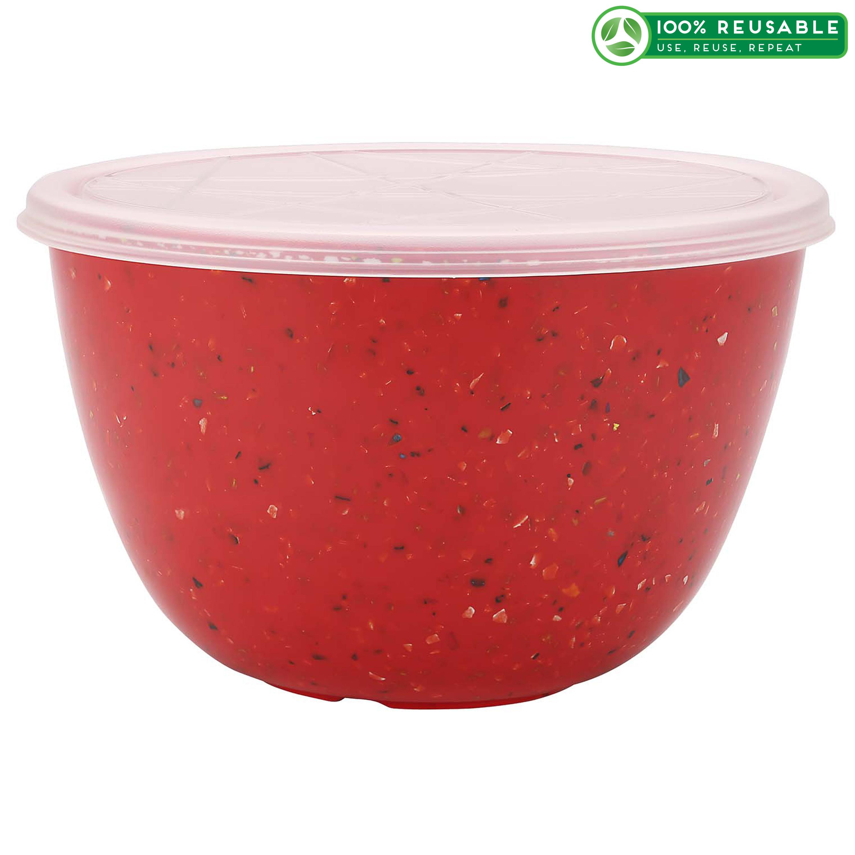 Confetti 1.5 quart Bowl Set, Red slideshow image 1