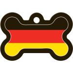 German Flag Large Bone Quick-Tag
