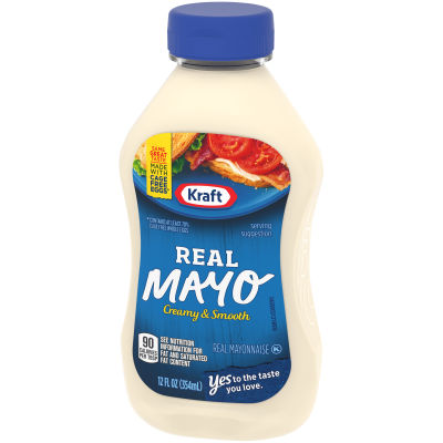 Kraft Mayo Real Mayonnaise, 12 Fluid Ounce Bottle