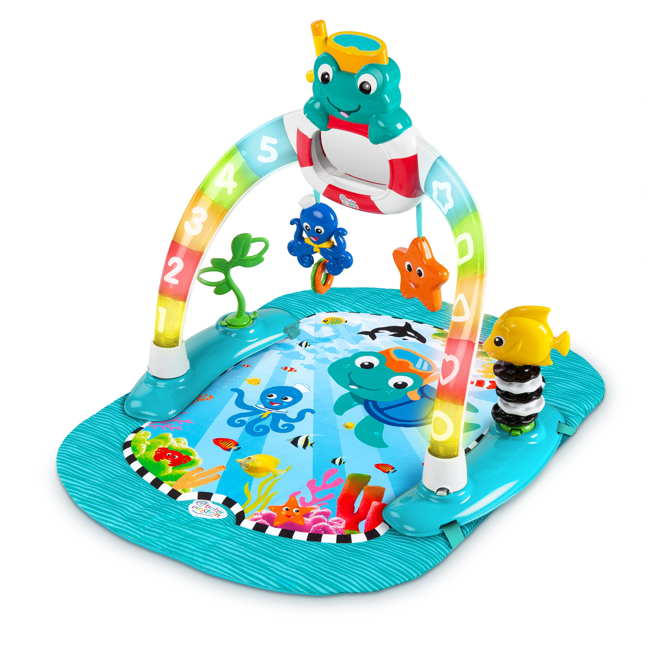 2 In 1 Lights Amp Sea Activity Gym Amp Saucer