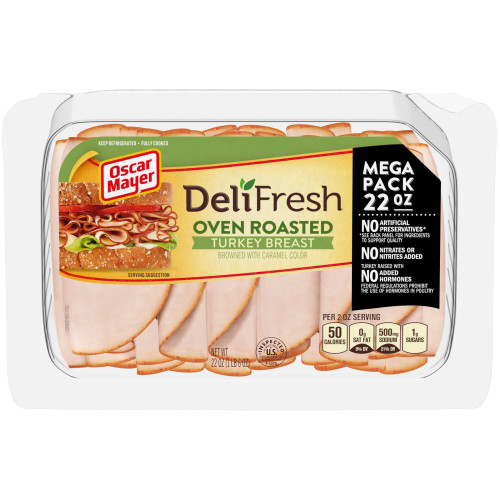 Oscar Mayer Deli Fresh Oven Roasted Turkey Breast 22 oz Tray
