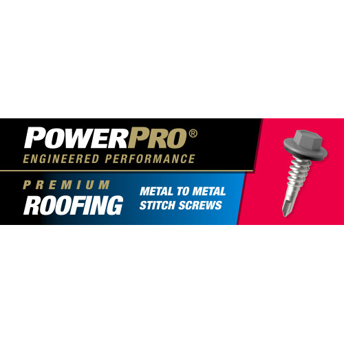 Power Pro Silver Self-Drilling Metal-to-Metal Stitch Roofing Screws (1/4