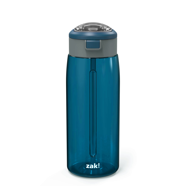 Genesis 32 ounce Reusable Plastic Water Bottle with Interchangeable Spouts, Indigo image