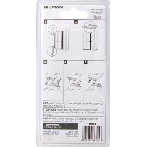 Hardware Essentials Bi-Fold Door Slide and Pivot Kit