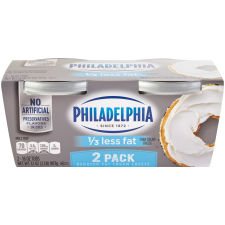 Philadelphia Plain 1/3 Less Fat Cream Cheese Spread 2 count Sleeve