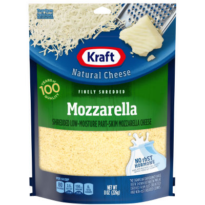 Kraft Mozzarella Finely Shredded Natural Cheese 8 oz Pouch